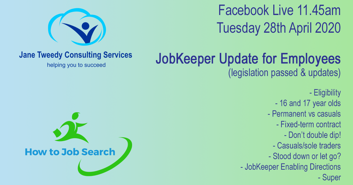 How to Job Search Update for Employees JobKeeper