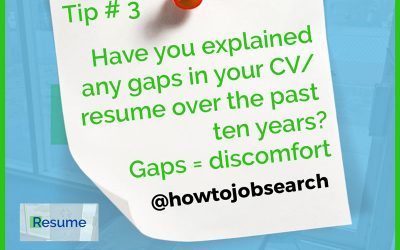 How to explain employment gaps in a resume