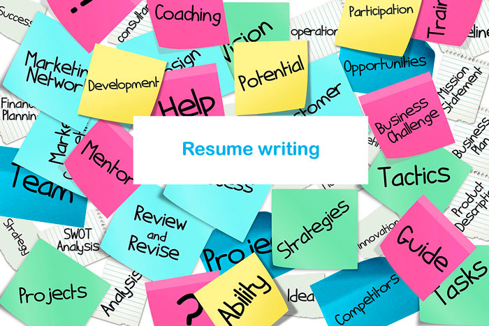 resume-writing-post-its-bulletin-board